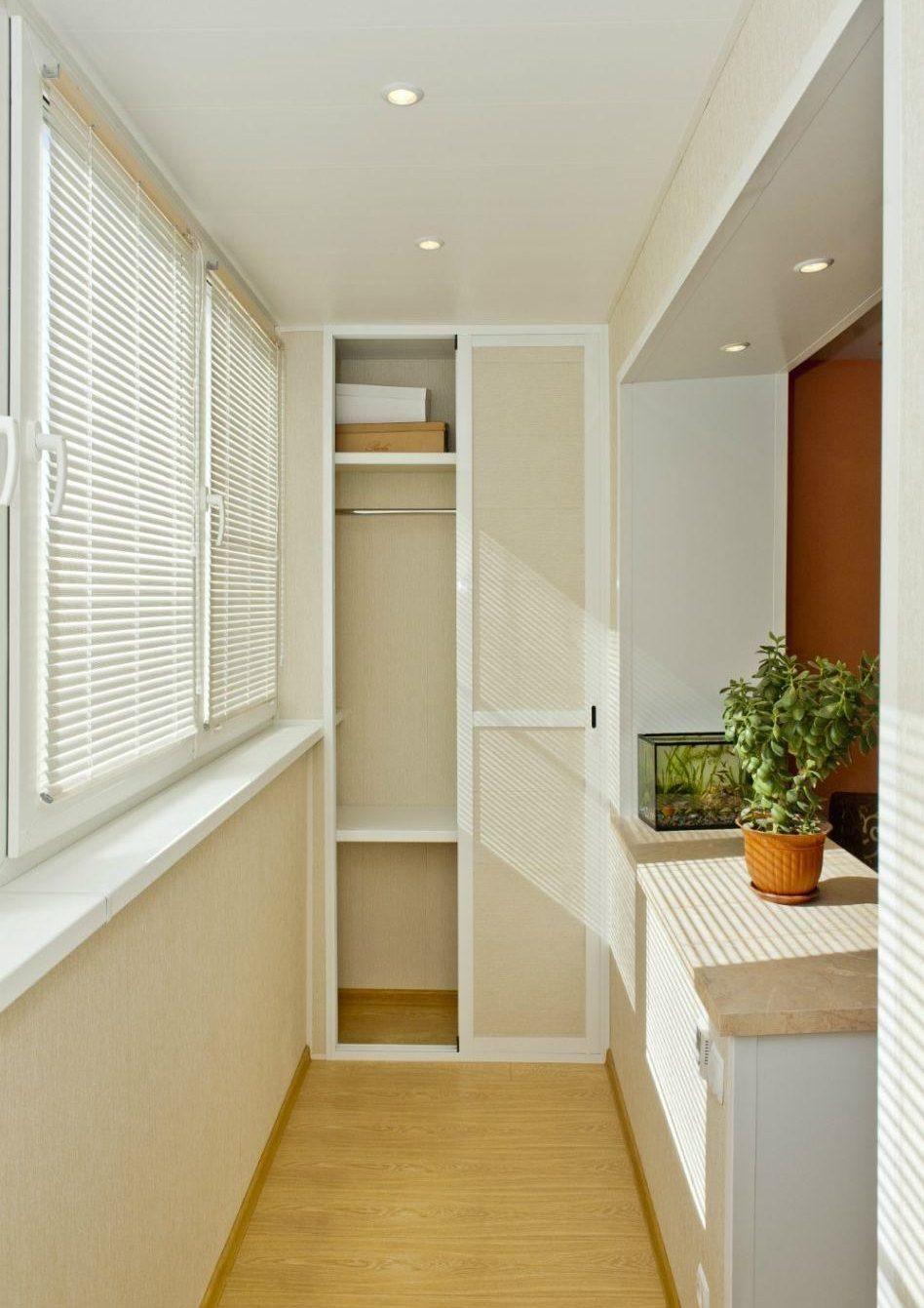Шкаф на балконе— привычное использование