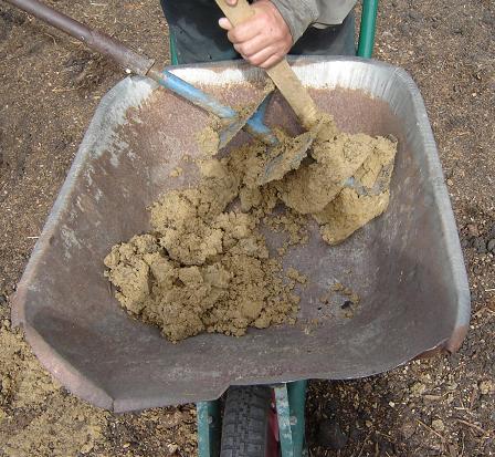 Исследование грунта под фундамент с лопастейручного бура