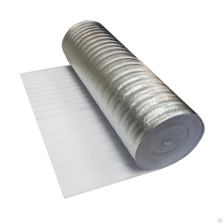 Подложка из вспененного полиэтилена с отражающим слоем