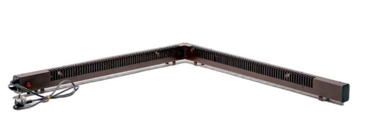 Угловой плинтусный электрический конвектор