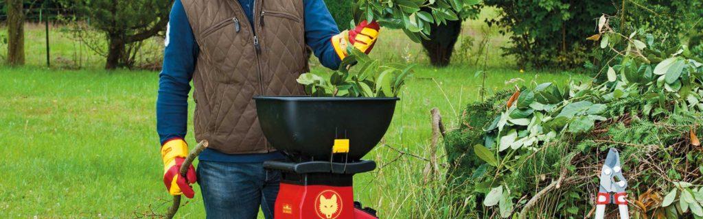 садовый измельчитель для травы и веток