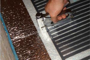 крепление ик пленки к подложке степлером