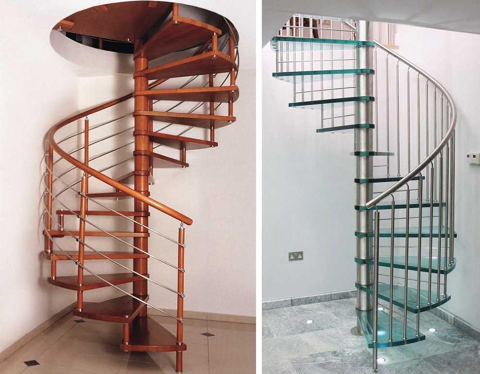 Межэтажные вынтовые лестницы