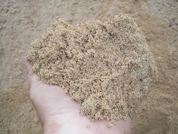Песок заполнитель бетонной смеси