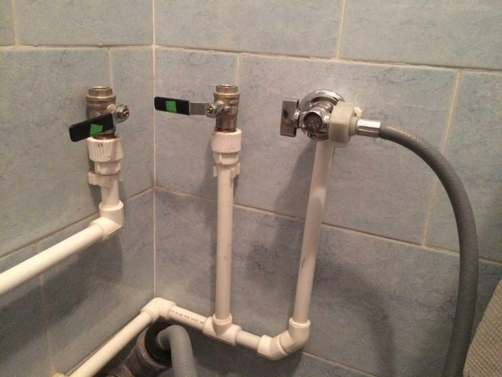 Пример разводки полипропиленовых труб в ванной