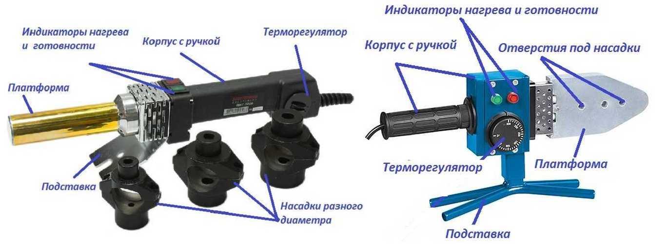 Две конструкции устройства для сварки ПП труб