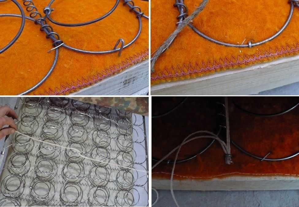 Ремонт диван в домашних условиях: крепим пружинный блок