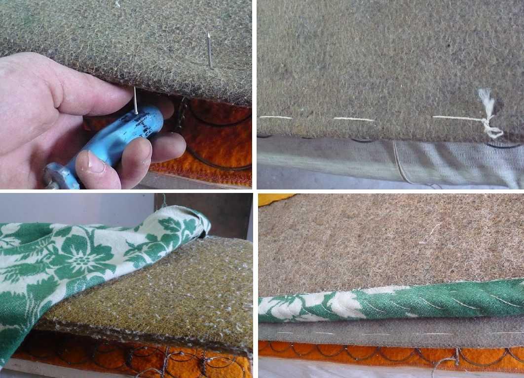 Обшивка дивана из подручных материалов (бюджетная перетяжка дивана)