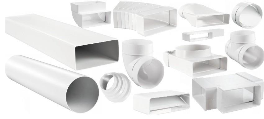 Виды пластиковых воздуховодов