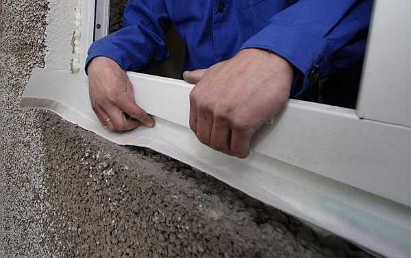 Использование гидроизоляционной ленты для окон пвх