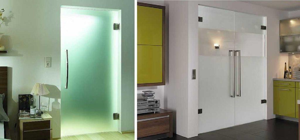 Установка стеклянной двери без коробки. Стеклянные двери можно непосредственно в дверной пролет, без дверной коробки