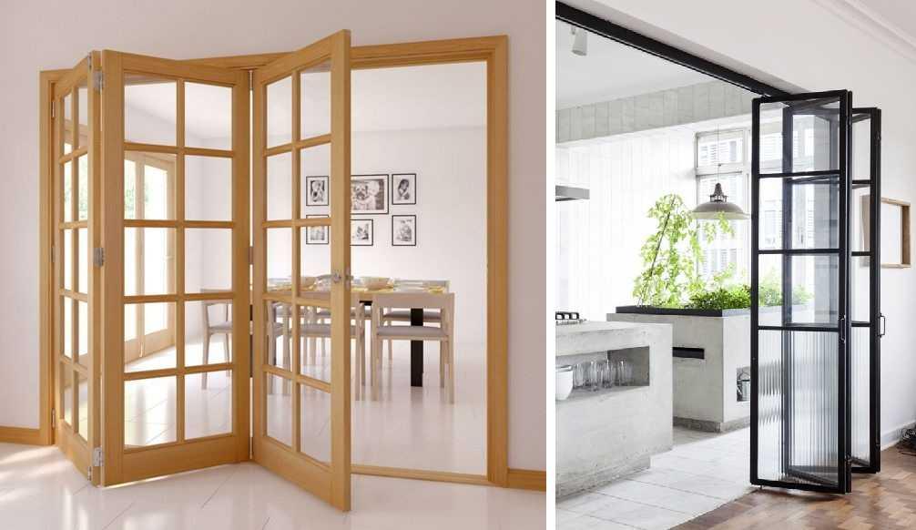 Складные стеклянные межкомнатные двери — явление редкое