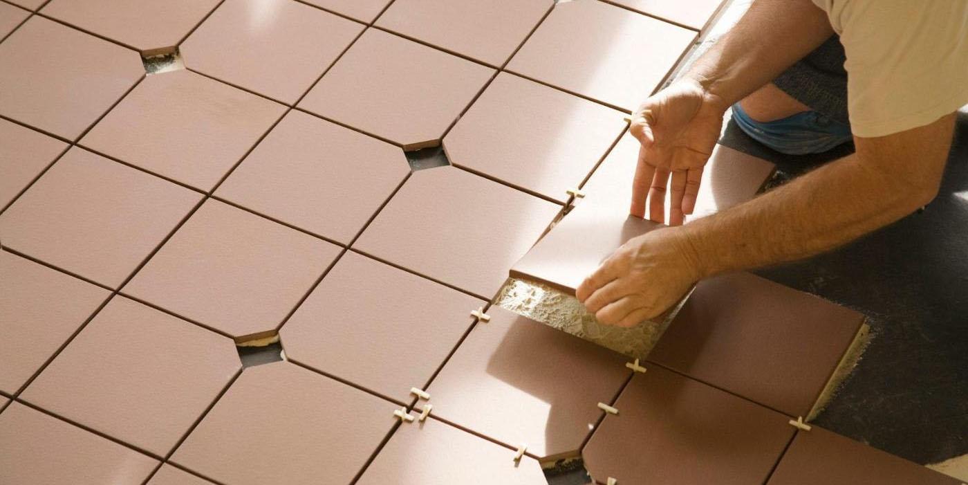 Укладка плитки с использованием крестиков
