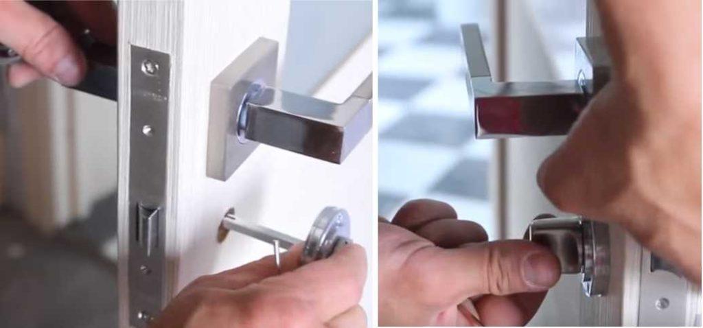Установка замка в межкомнатную дверь своими руками: установка фиксатора замка