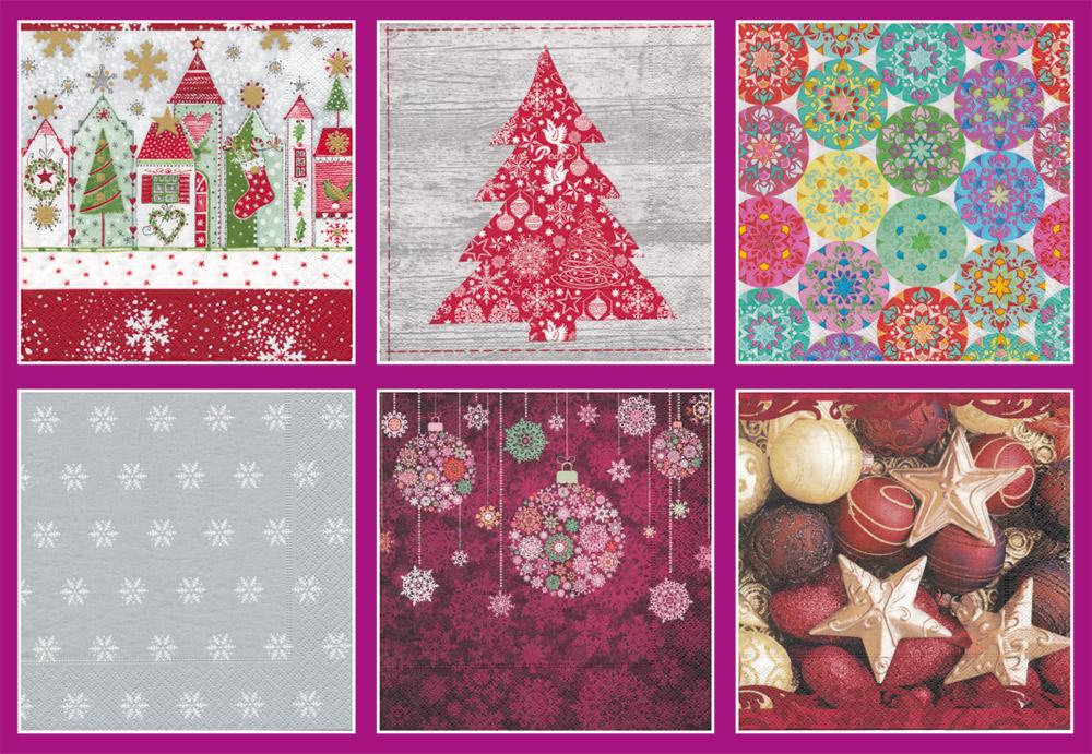 Бумажные салфетки для новогоднего стола