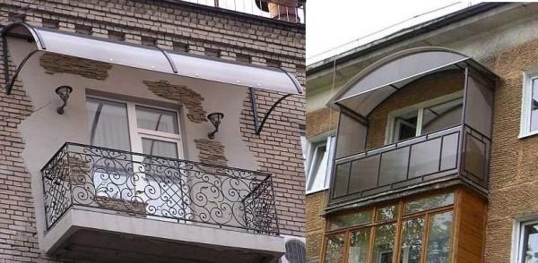 Поликарбонат в отделке балкона