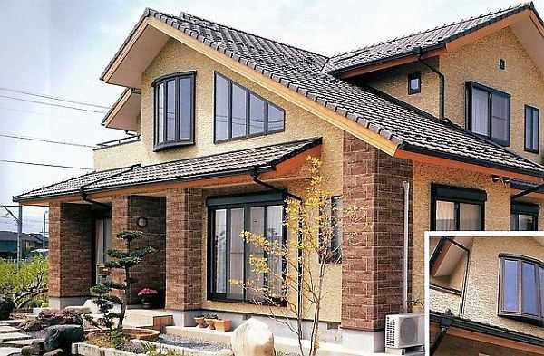 Этот дом тожеоблицован фиброцементными плитами