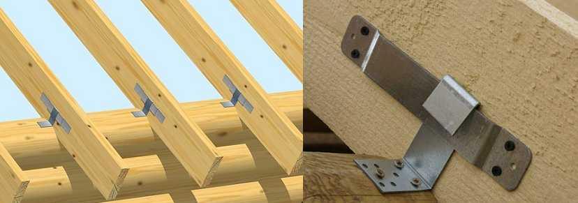 Способ крепления стропильной системы деревянного дома