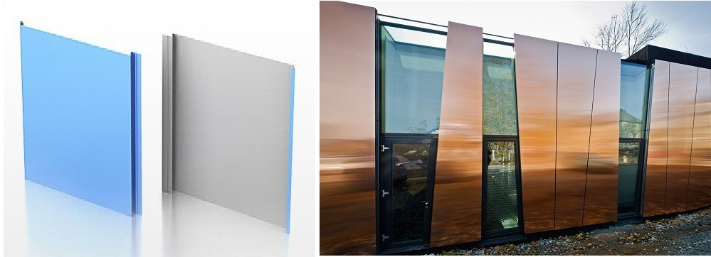 Металлические фасадные панели — для домов нестандартной архитектуры