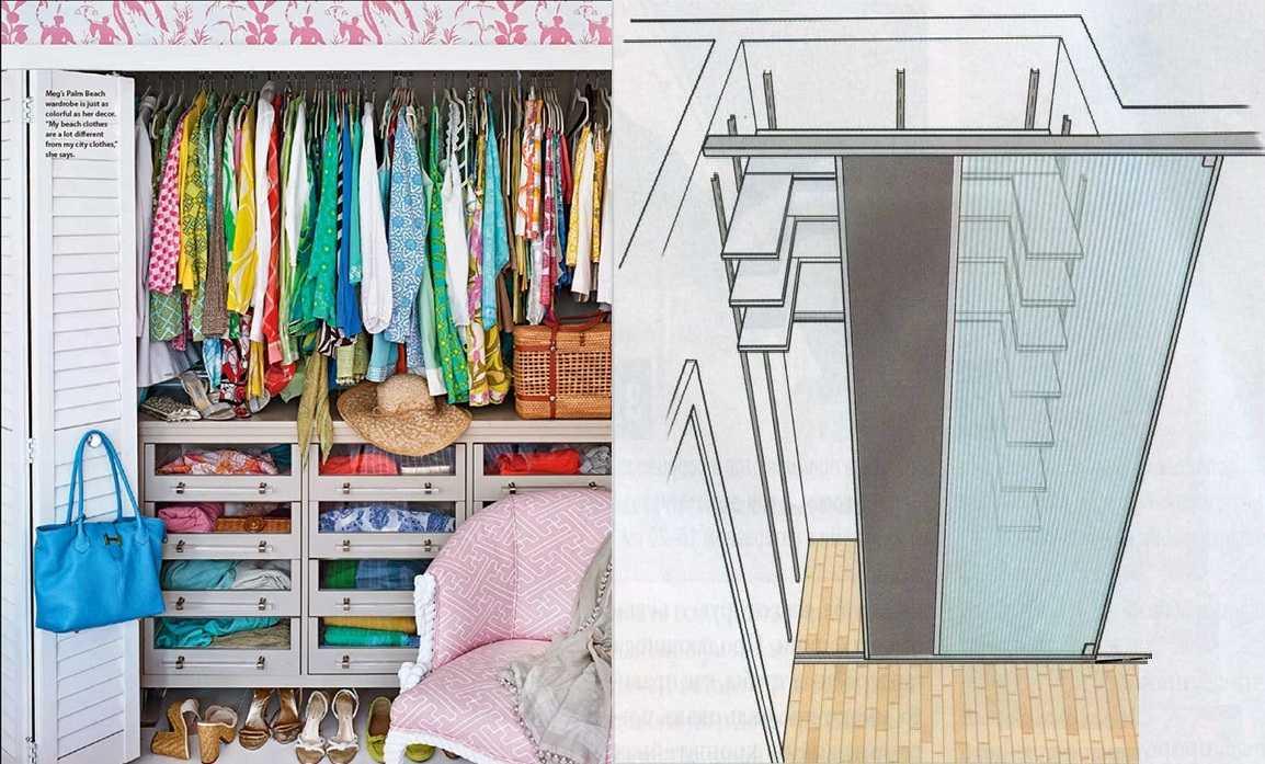 Два вида дверей для экономии пространства — раздвижные (откатные) и книжка
