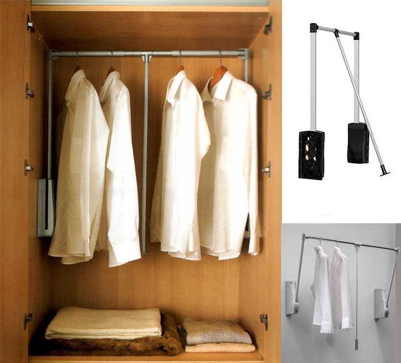 Мебельный пантограф — для легкой (по весу) одежды