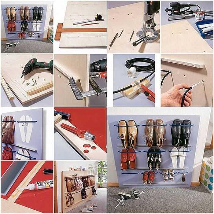 Как сделать держатели для обуви