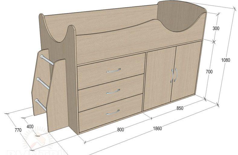 Кровать-чердак своими руками чертежи и размеры