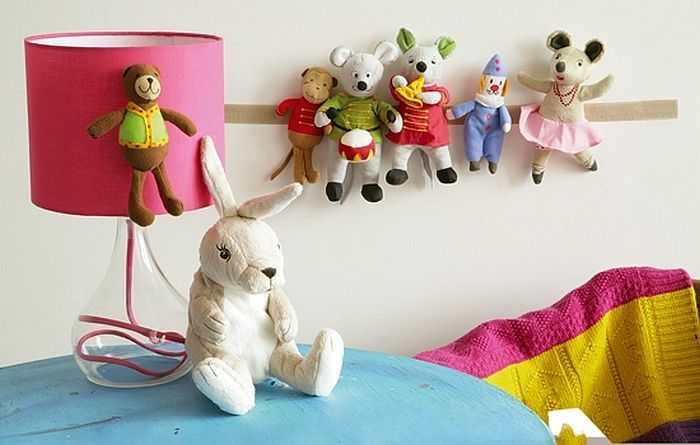 Липучка — один из простых способов найти место для мягких игрушек