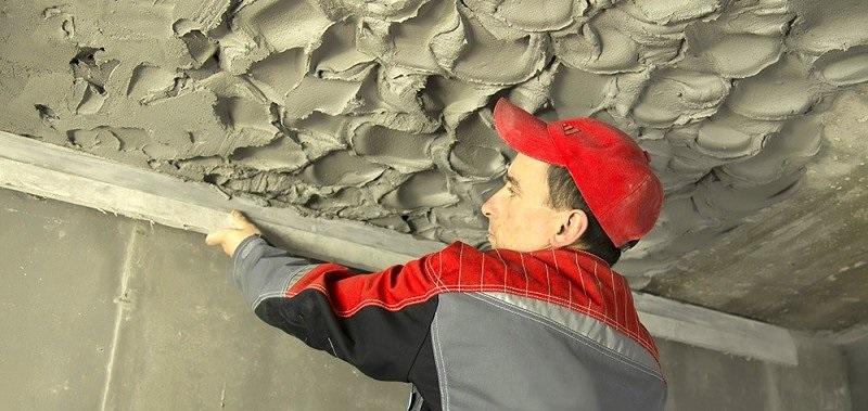 Штукатурка потолка своими руками