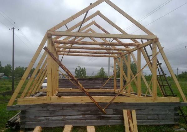 Устройство стропильной системы ломанной мансардной крыши для небольшого дома