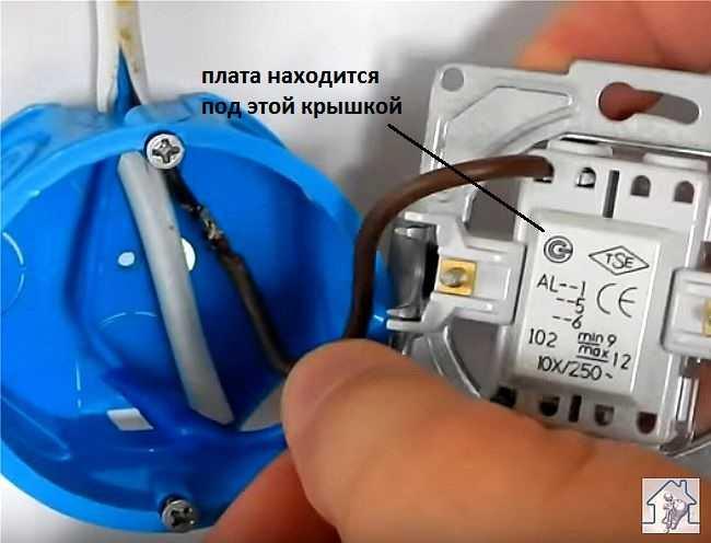 Разбираем выключатель чтобы добраться до крышки