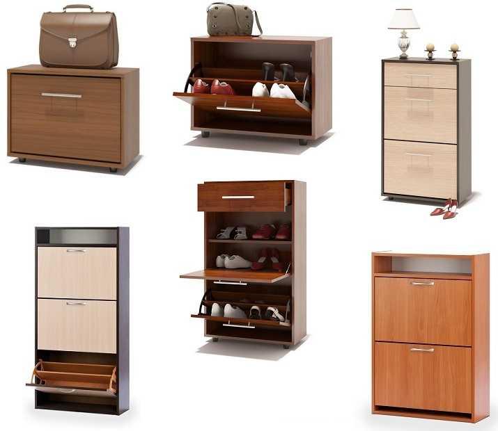 Шкафы или комоды для обуви — вот название калошниц закрытого типа