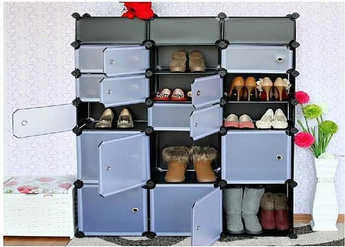 Пластиковые обувницы бывают и закрытые