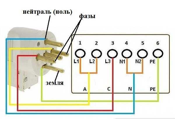 Подключение к двухфазной сети