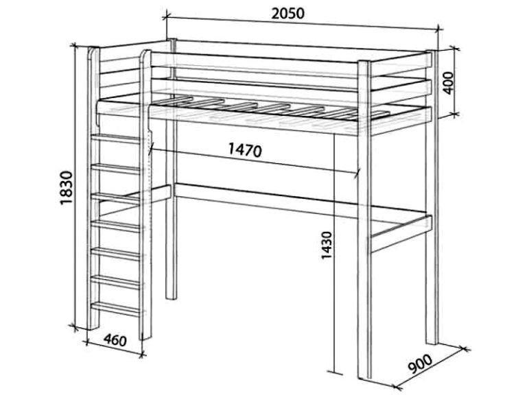 Кровать-чердак своими руками чертежи и размеры: кровать чердак с лестницей
