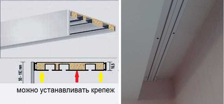 Как установить пластиковый шинный карниз для штор на потолок