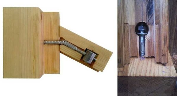 Принцип установки зипболта для соединения поручня и лестничного столба
