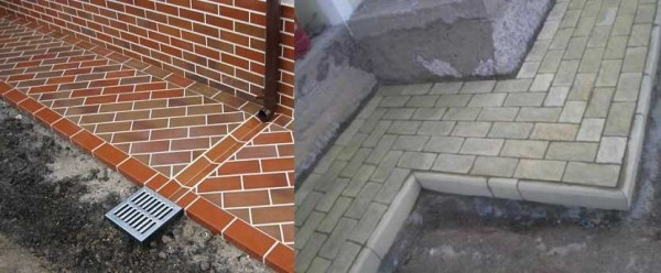 Еще один популярный тип защитного покрытия опалубки дома — тротуарная плитка или брусчатка