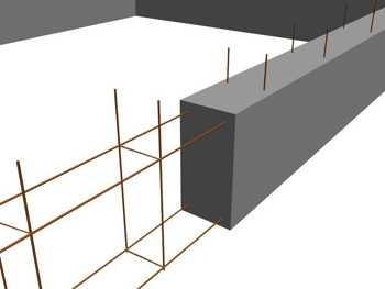 Схема армирование ленточного фундамента большинства домов