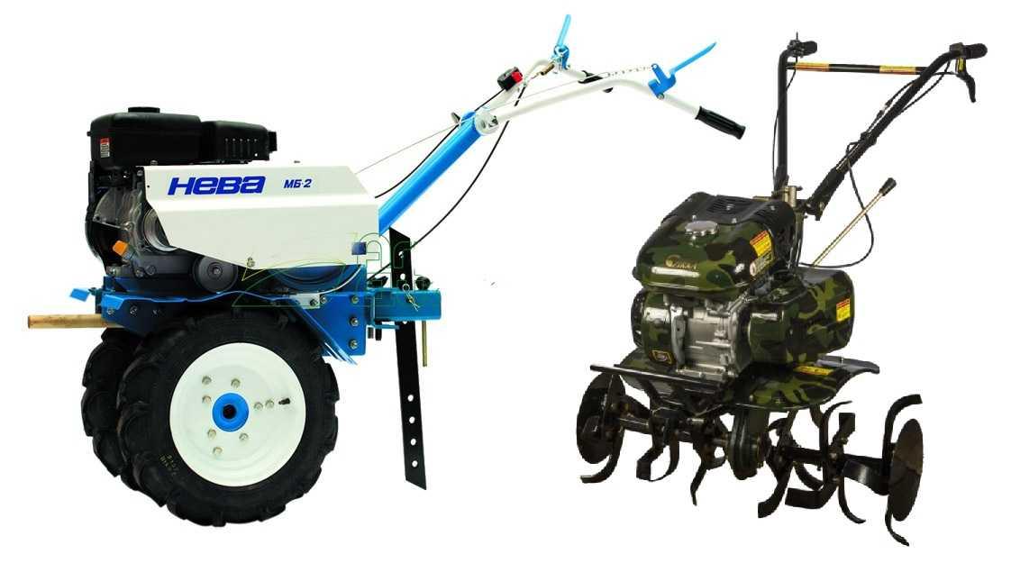 Назначение мотокультиватора и мотоблока схоже, но они отличаются мощностью, количеством выполняемых операций, глубиной обработки земли