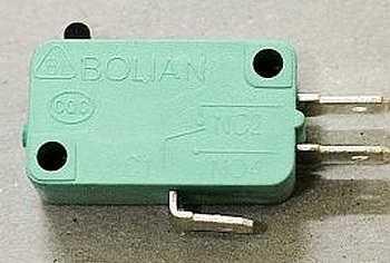 Микропереключатели для фиксирования закрытой дверки