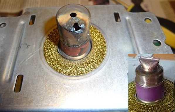 Колпачок антенны магнетрона поврежден