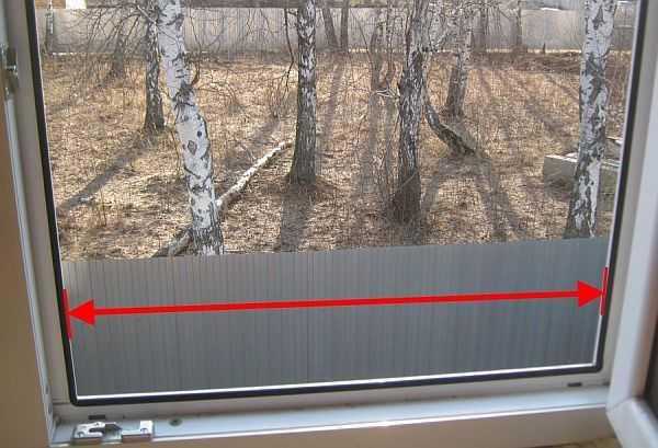 Как замерить окно для установки москитной сетки