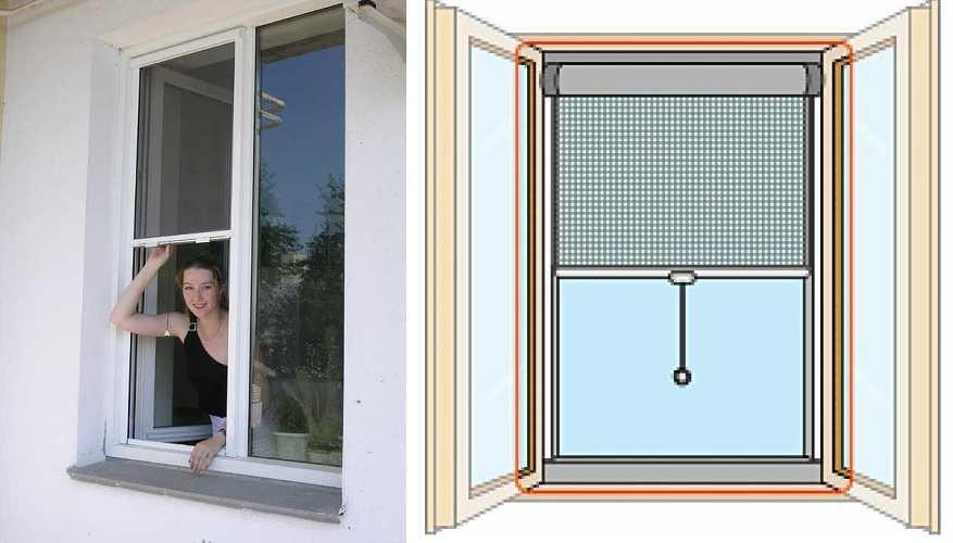 Рулонные москитные сетки на окна — хорошо, но дорого