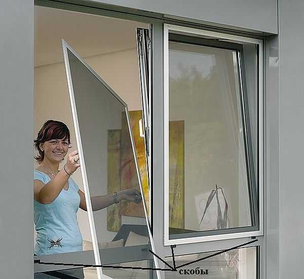 Рамочная антимоскитная сетка подходит как для деревянного так и для пластикового окна