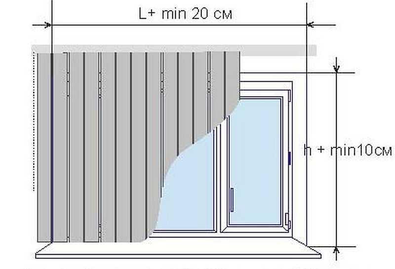 Монтаж жалюзи на стену. При креплении на потолок увеличится длинна., а насколько — выбирать вам