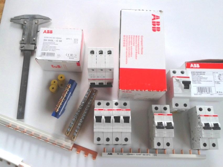 Ассортимент УЗО и автоматов производителя ABB