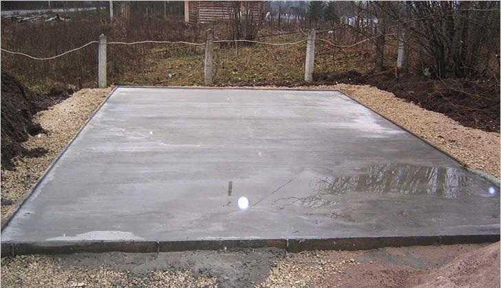 Фундамент монолитная плита для постройки гаража своими руками