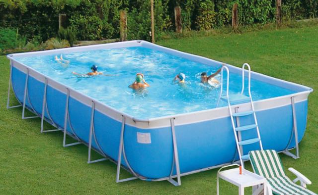 Летний каркасный бассейн