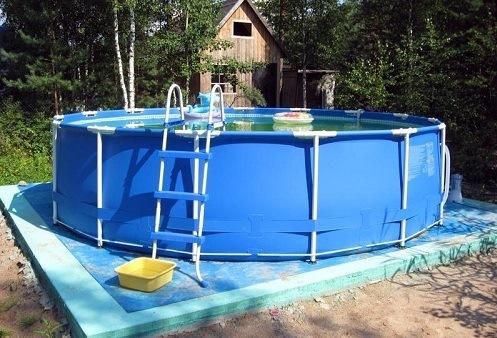 Стержневой каркасный бассейн